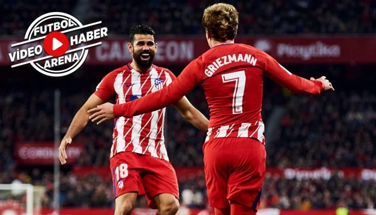 Sevilla 2-5 Atletico Madrid maçı özeti ve golleri (İZLE)
