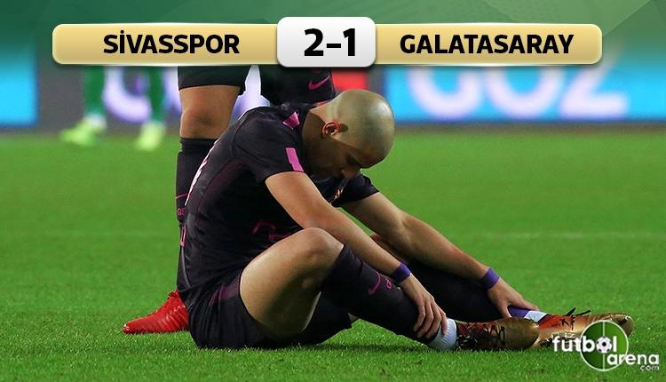 Sivasspor 2-1 Galatasaray maç özeti ve golleri (İZLE)