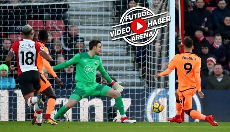 Southampton 0-2 Liverpool maçı özeti ve golleri (İZLE)