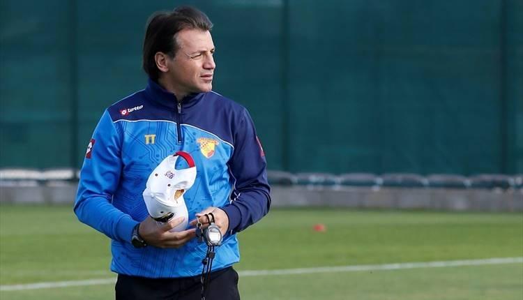 Tamer Tuna futbolcularını motive etti! Göztepe çıkış peşinde