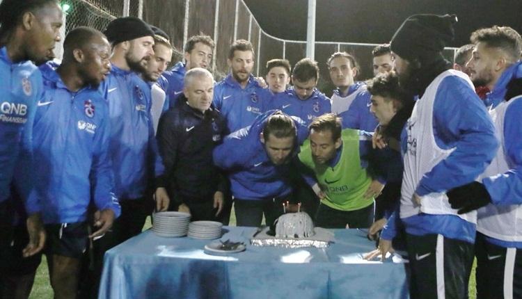 Trabzonspor'un Beşiktaş idmanında çifte kutlama