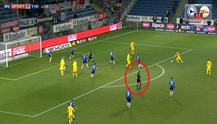 Union Berlin - Bielefeld maçında akıl almaz olay! İptal edilen gol...