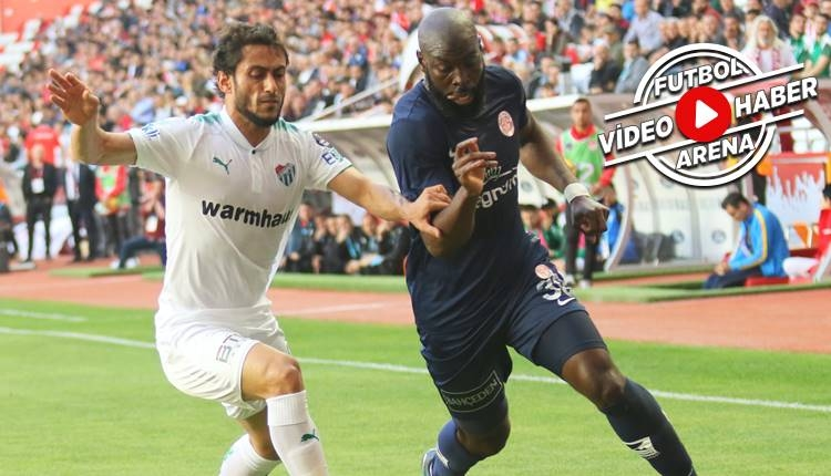 Antalyaspor 2-0 Bursaspor maçı özeti ve golleri (İZLE)