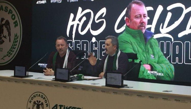 Atiker Konyaspor'dan Sergen Yalçın için imza töreni