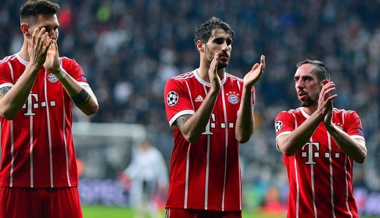 Bayern Münihli futbolcular Beşiktaş taraftarını alkışladı