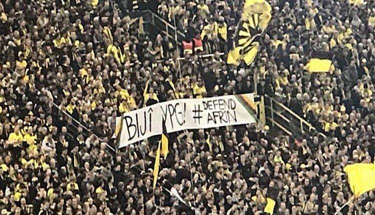 Borussia Dortmund'un taraftarlarından teröre destek!