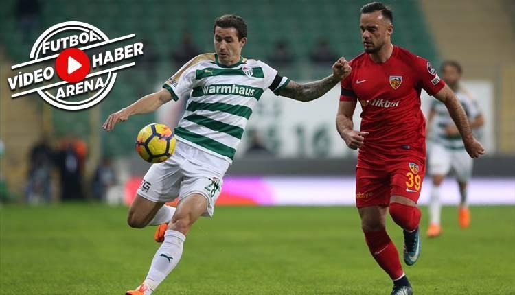 Bursaspor 1-0 Kayserispor maçı özeti ve golü (İZLE)