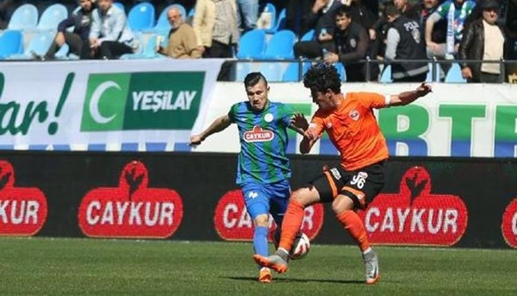 Çaykur Rizespor 1 - 1 Adanaspor maçın özeti ve golleri (İZLE)