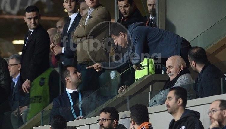 Emre Belözoğlu locada güvenlik görevlisiyle tartıştı