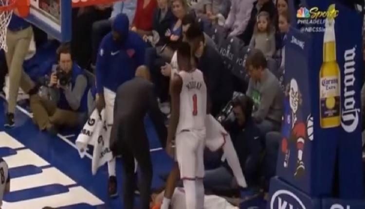 Ersan İlyasova'nın Enes Kanter'i yere serdiği videoyu - İZLE (NBA Philadelphia 76ers - New York maçı)