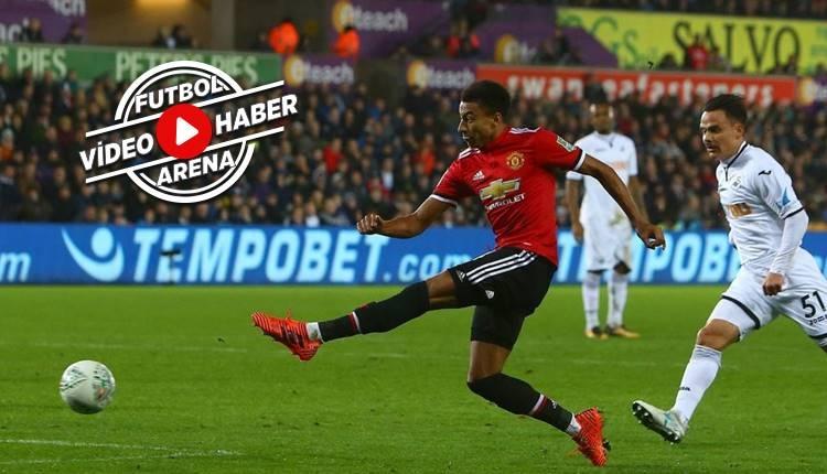 Manchester United 2-0 Swansea City maçı özeti ve golleri (İZLE)