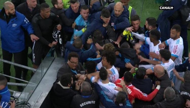 Marcelo, Lyon maçını karıştırdı! Sahada büyük kavga