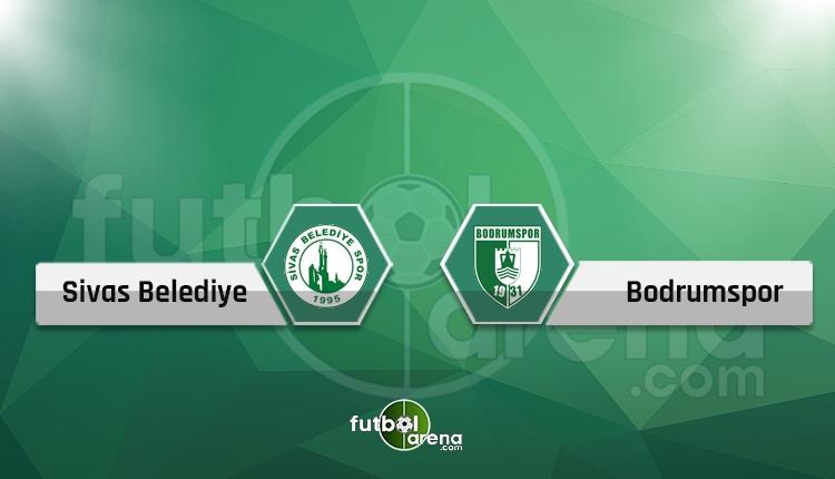 Sivas Belediyespor 1-2 Bodrumspor maç özeti ve golleri