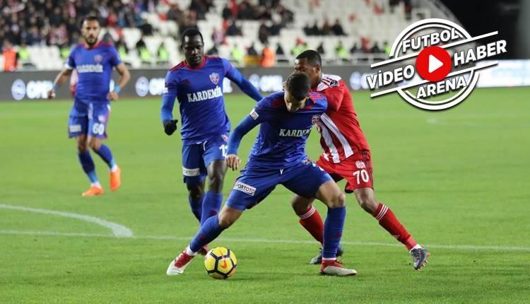 Sivasspor 1-0 Karabükspor maçı özeti ve golü (İZLE)