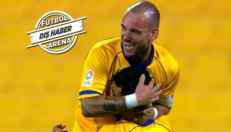 Sneijder Al Gharafa'da yine golünü attı (İZLE)
