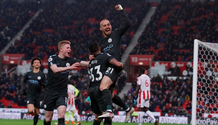 Stoke City 0-2 Manchester City maç özeti ve golleri (İZLE)