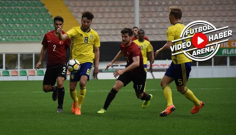 Türkiye U21 0-3 İsveç U21 maçı özeti ve golleri (İZLE)