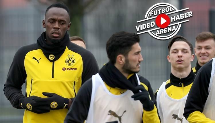 Usain Bolt Dortmund antrenmanında şov yaptı