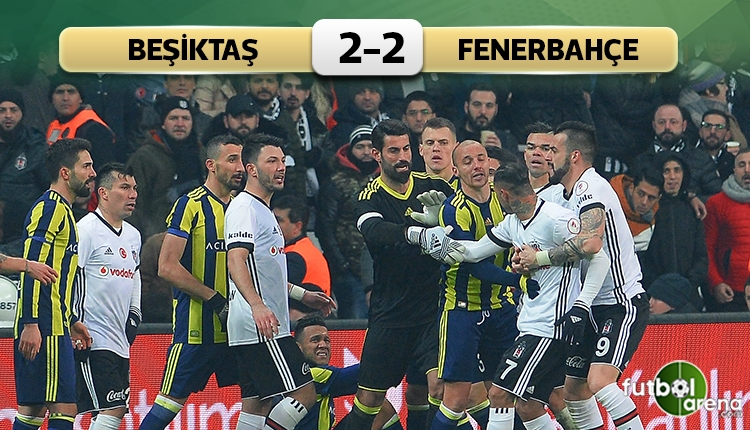 Beşiktaş - Fenerbahçe maçı özeti ve golleri (İZLE)