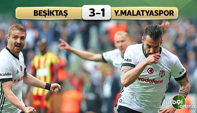 Beşiktaş, Yeni Malatyaspor'u devirdi (İZLE)