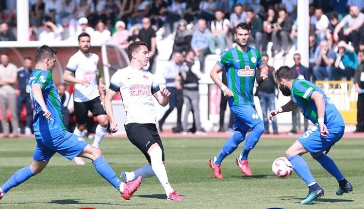 Çaykur Rizespor, Süper Lig'e döndü! Ümraniyespor 0-1 Çaykur Rizespor maç özeti (İZLE)