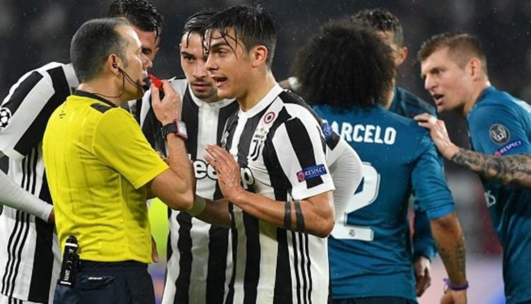 Cüneyt Çakır'a Juventus taraftarından tepki! Penaltı pozisyonu (İZLE)