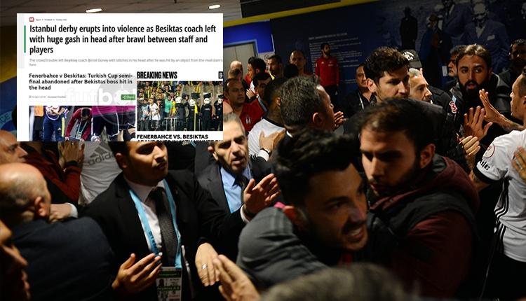Fenerbahçe - Beşiktaş derbisindeki olaylar Avrupa basınında