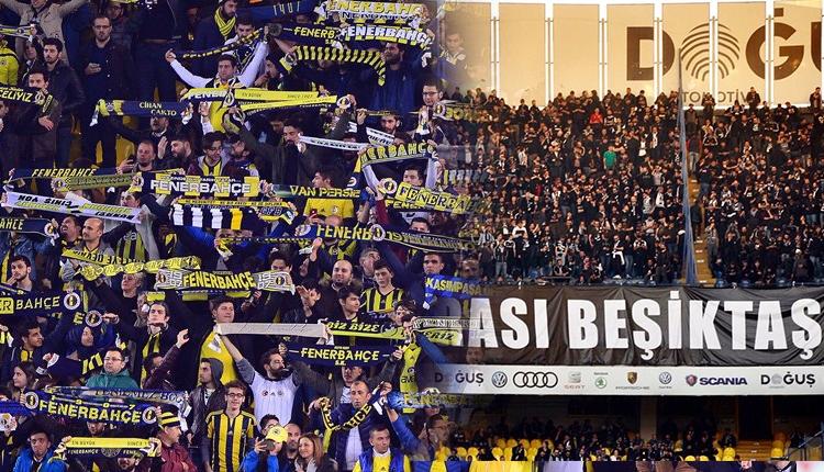 Fenerbahçe ve Beşiktaş taraftarları arasında gerginlik
