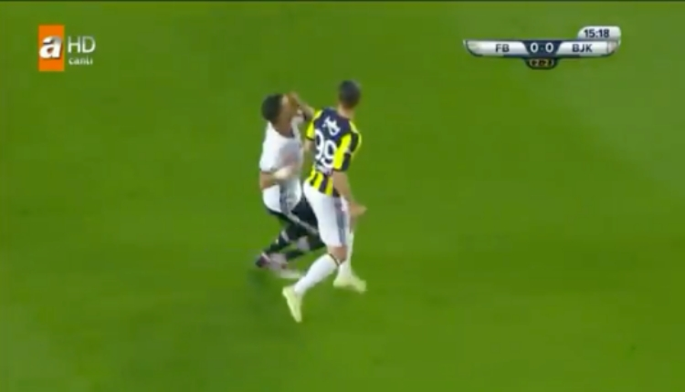 Fenerbahçe-Beşiktaş derbisinde Soldado-Pepe gerginliği