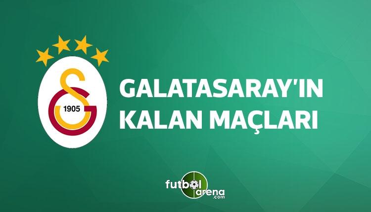 Galatasaray kalan maçları (GS fikstür, GS kalan maçları 15 Nisan 2018)