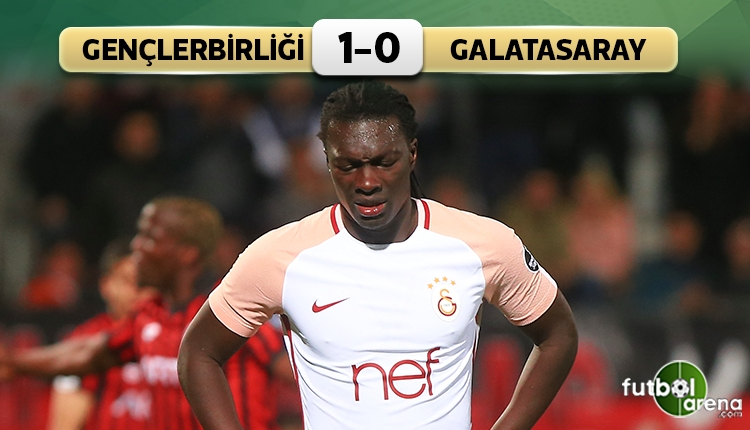 Gençlerbirliği 1 - 0 Galatasaray maçın özeti ve golü (İZLE)