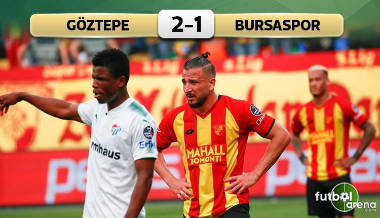 Göztepe 2-1 Bursaspor maç özeti ve golleri (İZLE)
