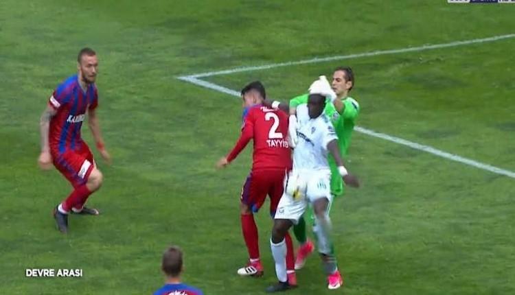 Karabükspor Bursaspor maçında penaltı itirazı