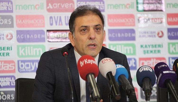 Kayserispor cephesinden maç sonu Başakşehir'e şampiyonluk göndermesi