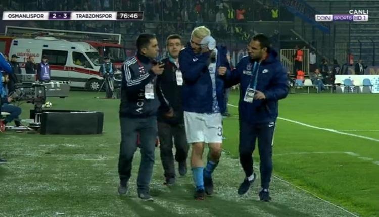 Kucka hastaneye kaldırıldı! Osmanlıspor - Trabzonspor maçında sakatlık