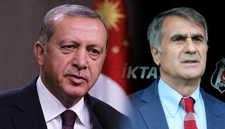 Recep Tayyip Erdoğan'dan Şenol Güneş'e geçmiş olsun telefonu