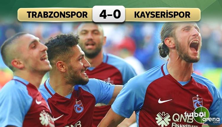 Trabzonspor, Kayserispor'u farklı geçti! (İZLE)