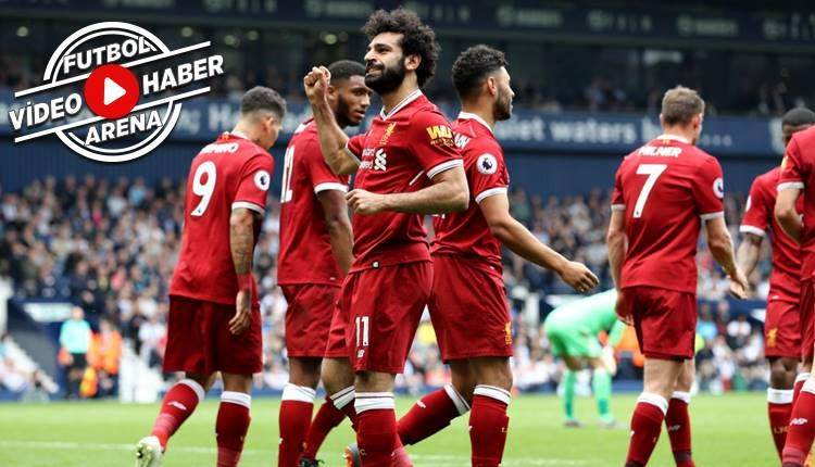 West Bromwich 2-2 Liverpool maç özeti izle (Salah rekor kırdı)