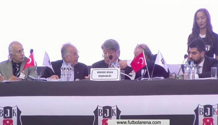 Beşiktaş Genel Kurulu'nda Yıldırım Demirören kavgası