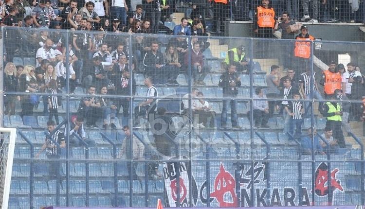 Beşiktaş taraftarlarından Fenerbahçe'ye küfürlü tezahürat