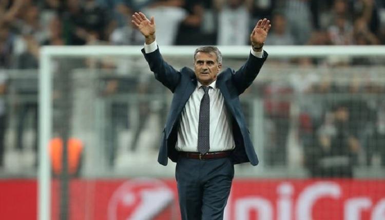 Beşiktaş taraftarlarından Kayserispor maçında Şenol Güneş'e destek
