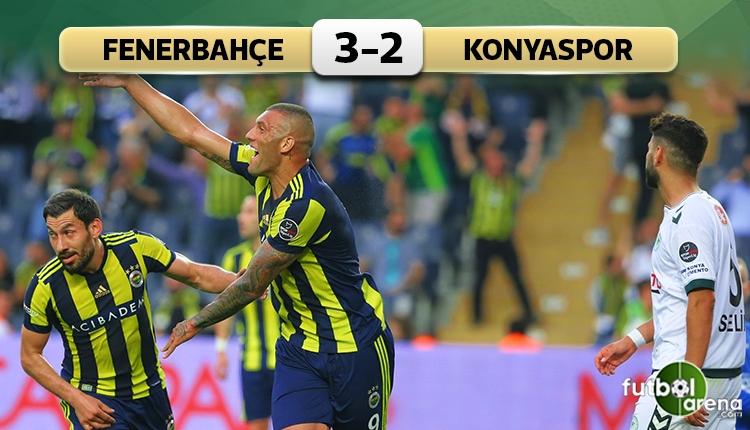 Fenerbahçe 3-2 Konyaspor maç özeti ve golleri (İZLE)