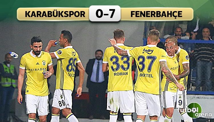 Karabükspor 0 - 7 Fenerbahçe maçın özeti ve golleri (İZLE)