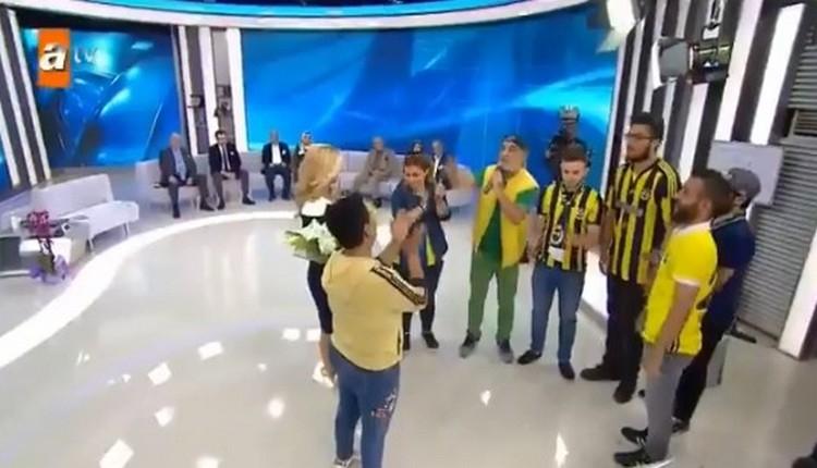 FB Haberi: Fenerbahçeli taraftarlar, Müge Anlı'nın canlı yayınına çıktı