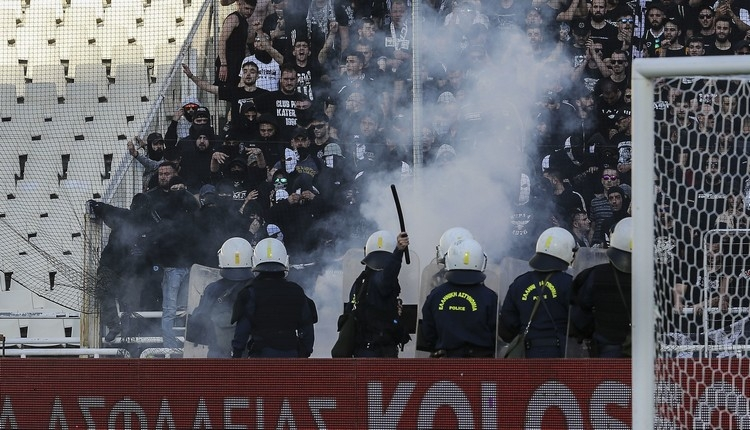 Fikret Orman'ın gittiği Yunanistan derbisinde olaylar