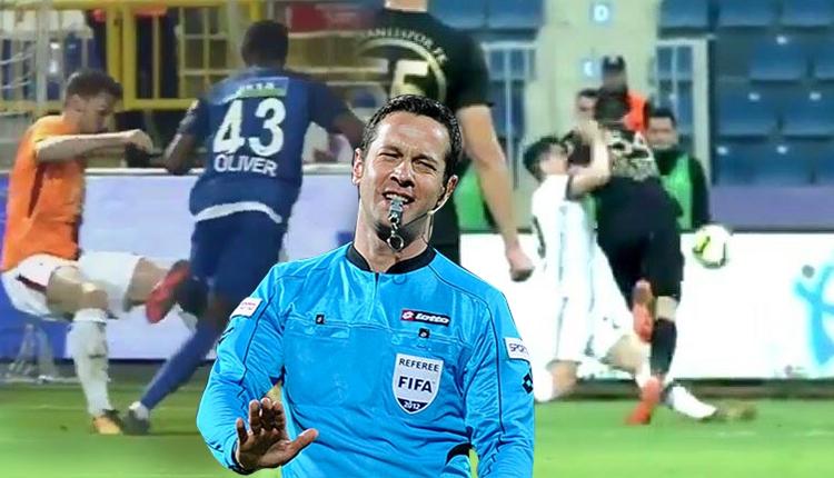 Galatasaray taraftarlarından Osmanlıspor-Beşiktaş maçında penaltı isyanı