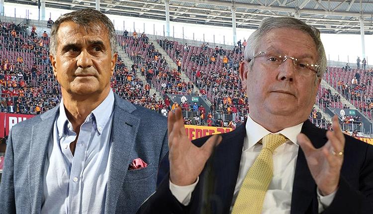 Galatasaray taraftarlarından Aziz Yıldırım ve Tiyatrocu Şenol Güneş tezahüratı (Galatasaray - Yeni Malatyaspor)