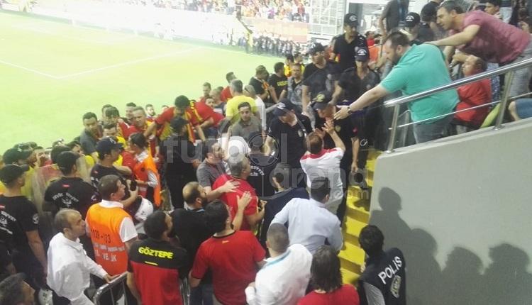 Gomis'in Göztepe'ye golü sonrası tribünde olay çıktı