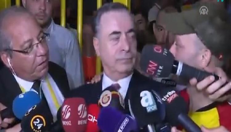 Rıza Kocaoğlu Mustafa Cengiz'in basın açıklamasına bir anda girince... (Göztepe - Galatasaray maçı)