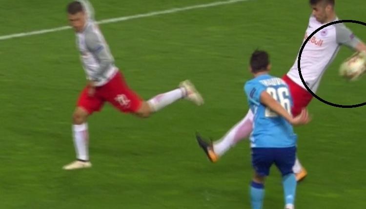 Salzburg - Marsilya maçında skandal hakem hatası